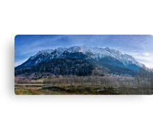 Winter landscape with rocky mountains Metal Print