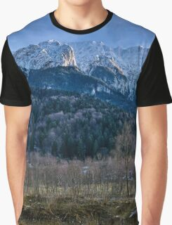 Winter landscape with rocky mountains Graphic T-Shirt