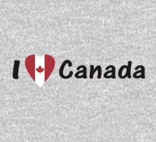 J'aime Canada - I Love Canada with Maple Leaf T-shirt & Top by deanworld