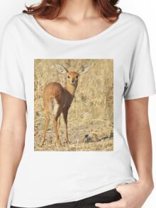 Steenbok - Shy and Elusive Beauty - Cute African Wildlife Women's Relaxed Fit T-Shirt