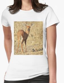 Steenbok - Shy and Elusive Beauty - Cute African Wildlife Womens Fitted T-Shirt