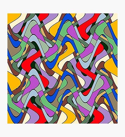 Abstract Maze Photographic Print