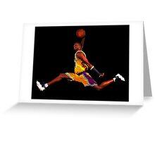 kobe dunk Greeting Card