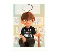 The wild child Art Print