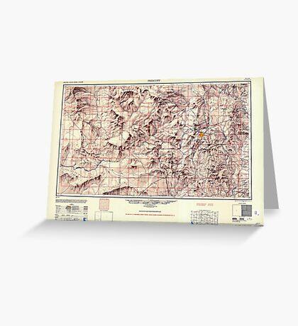 USGS TOPO Map Arizona AZ Prescott 707531 1950 250000 Greeting Card