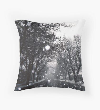 SNOW-DOME VILLAGE - ARROWTOWN New Zealand Throw Pillow