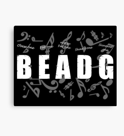 Bass Player Canvas Print