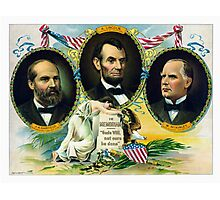 Garfield, Lincoln, and McKinley -- In Memoriam  Photographic Print
