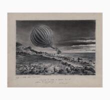 0090 ballooning Descente du ballon le Neptune dans les falaises du Cap Gris Nez Voyage en ballon Calais 15 août 1868 A Tissandier Kids Tee