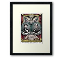 Abraham Lincoln and Andrew Johnson Election Banner 1864 Framed Print