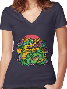 Rich Boi Women's Fitted V-Neck T-Shirt