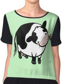 Dairy Cow Chiffon Top