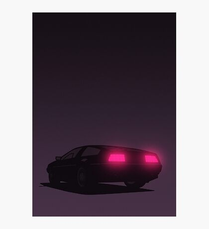 DeLorean tail lights (Violet) Photographic Print