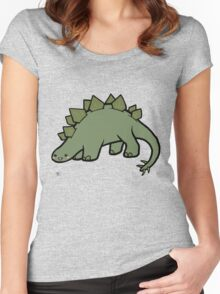 Stegosaurus Women's Fitted Scoop T-Shirt