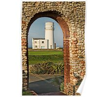 St Edmund's Chapel and Old Hunstanton Lighthouse Poster
