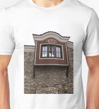 Unexpected Feature - Oriel Window on a High Stone Wall Unisex T-Shirt