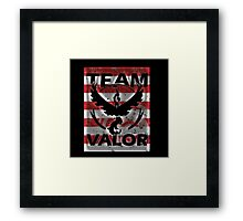 Team Valor Red full Stripes Framed Print