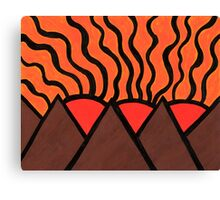 Pyramids Of Other Worlds III Canvas Print