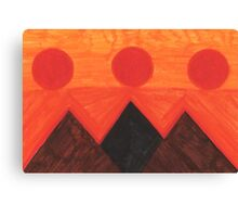 Pyramids Of Other Worlds IV Canvas Print