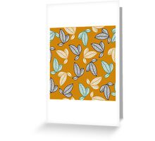 graphically leaves Greeting Card