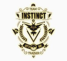 Team Instinct Trainer Lets Go Kids Tee