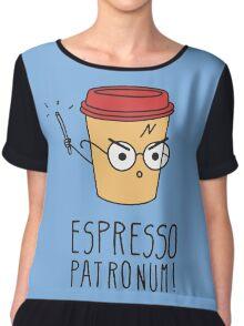 Harry Potter - Espresso Patronum  Chiffon Top