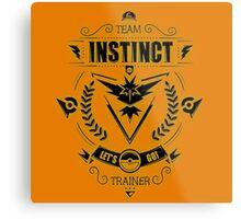 Team Instinct Trainer Lets Go Metal Print