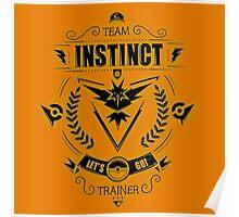 Team Instinct Trainer Lets Go Poster