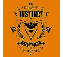 Team Instinct Trainer Lets Go Photographic Print