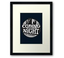 Programmer T-shirt : Coding at the night Framed Print
