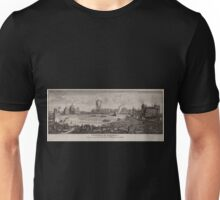 0070 ballooning Vorderseite des Marsfeldes am 1 Vendemiaire des Jahres VII Wettrennen Verbrennen einer hölzernen Burg durch Aerostaten Unisex T-Shirt