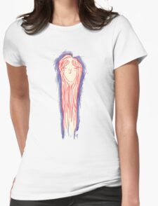 Long haired girl Womens Fitted T-Shirt