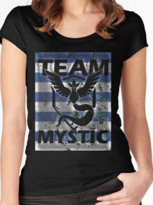 Team Mystic Blue full Stripes Women's Fitted Scoop T-Shirt