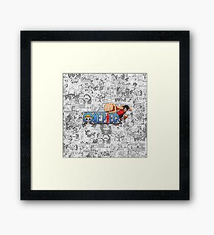 One Piece Framed Print