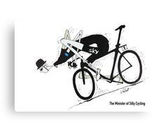 The Minister of Silly Cycling Canvas Print