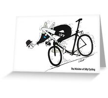 The Minister of Silly Cycling Greeting Card