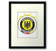 World Cup Football 3/8 - Team Deutschland (distressed) Framed Print