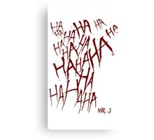 JOKER LAUGH (RED) TATTOO Canvas Print