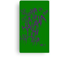 JOKER LAUGH (PURPLE) TATTOO Canvas Print