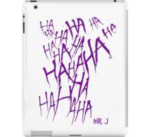 JOKER LAUGH (PURPLE) TATTOO iPad Case/Skin