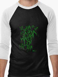 JOKER LAUGH (GREEN) TATTOO Men's Baseball ¾ T-Shirt