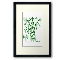 JOKER LAUGH (GREEN) TATTOO Framed Print