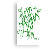 JOKER LAUGH (GREEN) TATTOO Canvas Print