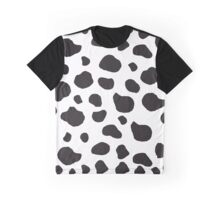 Animal Print (Cow Print), Cow Spots - White Black  Graphic T-Shirt