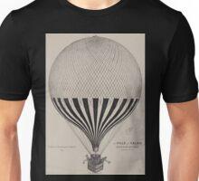 0063 ballooning La ville de Calais J Duruof Pau 4 février 1875 lith Veronese Pau Unisex T-Shirt