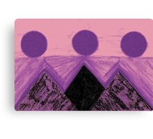 Pyramids Of Other Worlds In Pink and Purple  Canvas Print