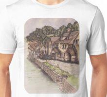 By The River - Junto al Río - Au bord de la Rivière (Original Background) Unisex T-Shirt