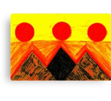 Pyramids Of Other Worlds In Orange and Yellow Canvas Print