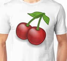 Cherries, Leaves, Stems, Fruits - Red Green Unisex T-Shirt