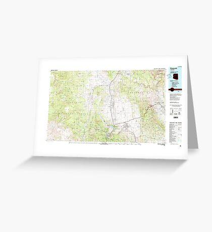 USGS TOPO Map Arizona AZ Prescott 315292 1981 100000 Greeting Card